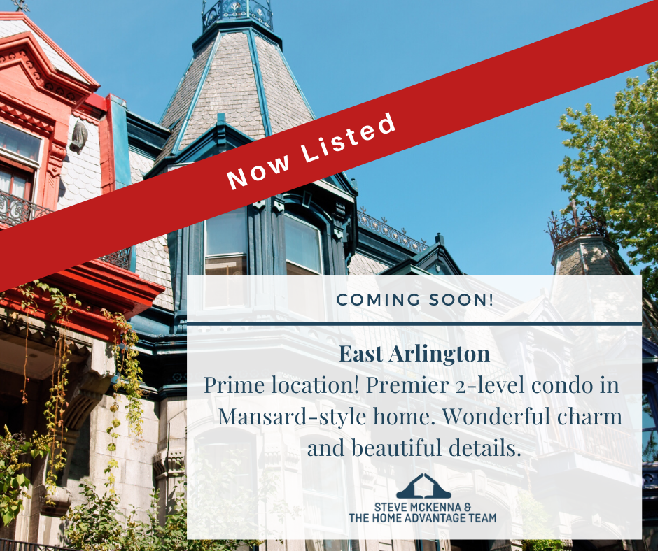 Now Listed! Condo Home for Sale in East Arlington