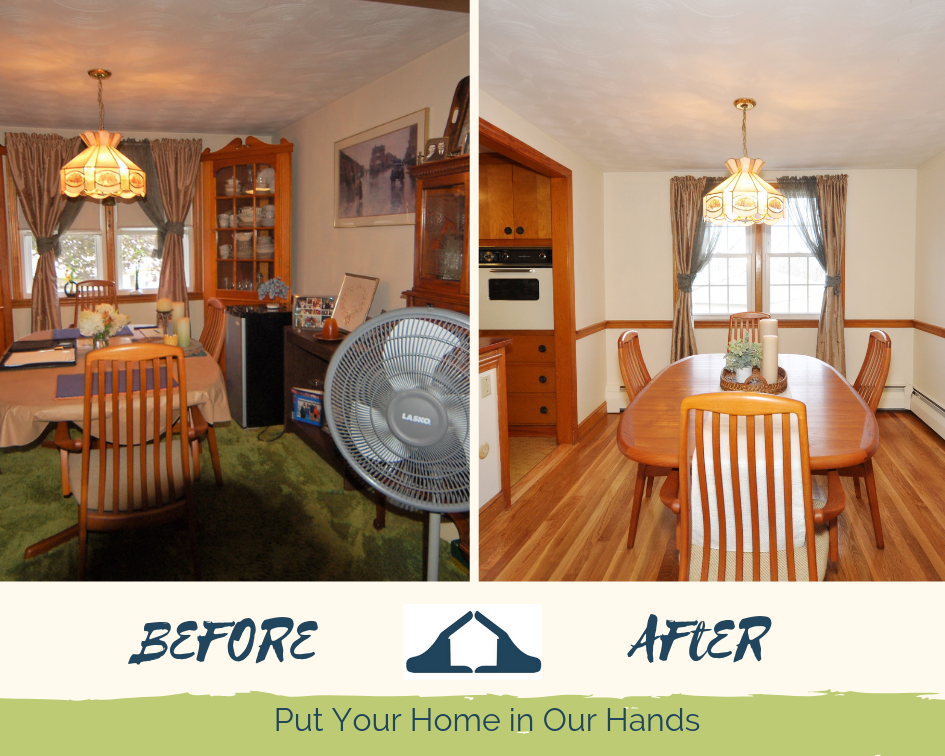 Before and After (Dining Room) - The Importance of Preparing Your Home For Sale