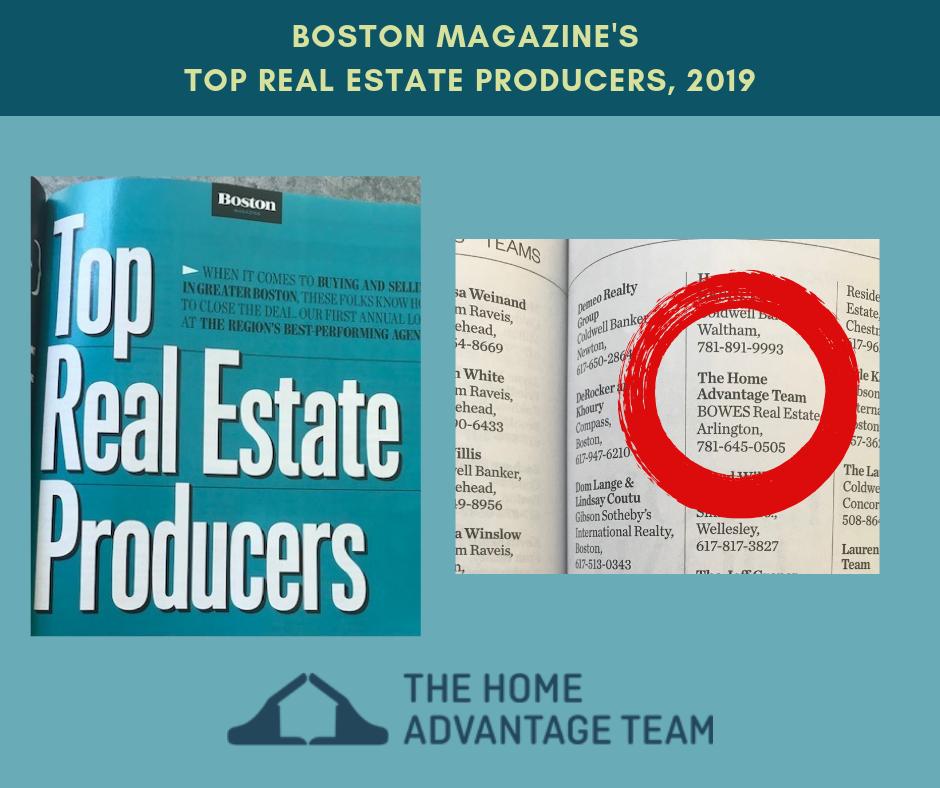 Boston Magazine's Top Real Estate Producers