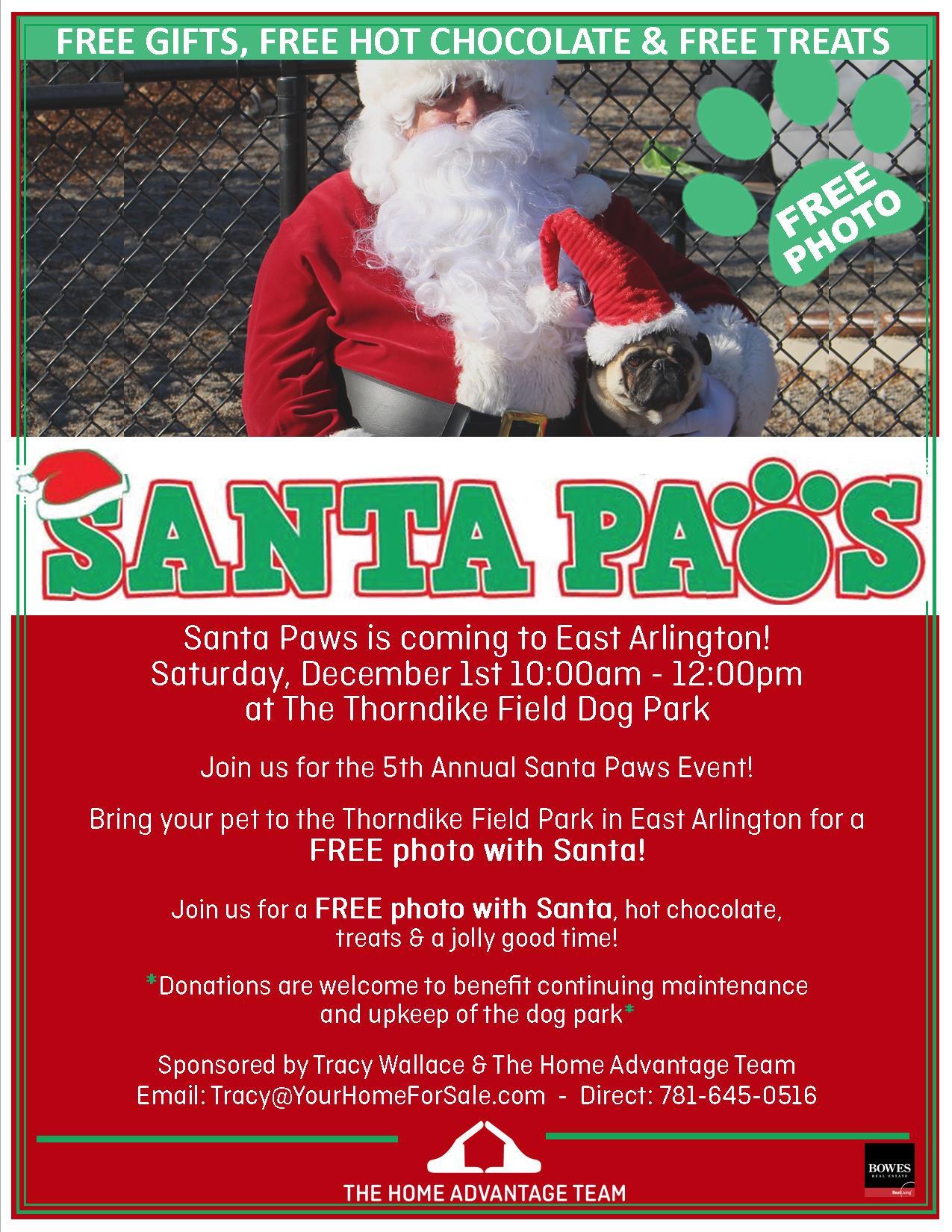 Santa Paws in East Arlington