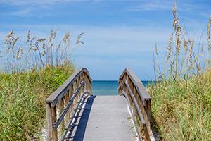 Bridge to Sanibel Beaches in Florida