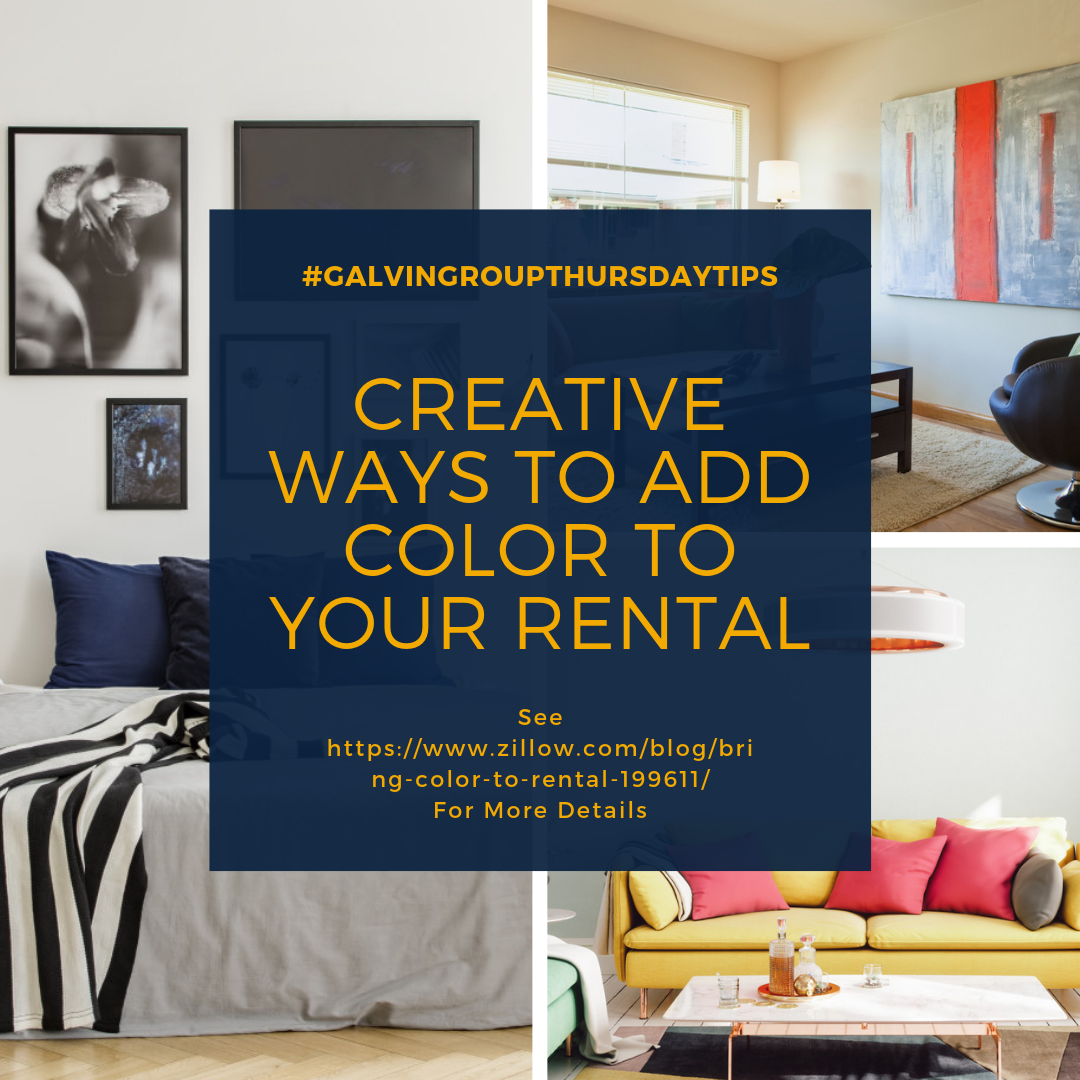 Creative Ways to Add Color to Your Rental