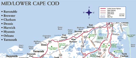 Cape Cod Map | Cape Cod Area Map Cape Cod Map on
