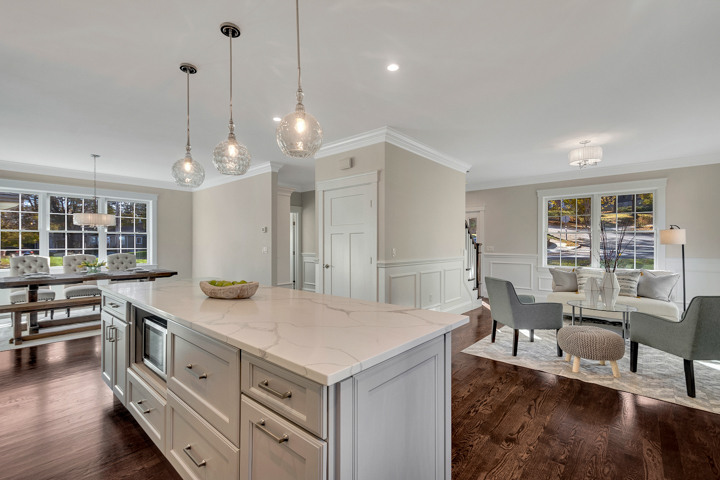 Kitchen of Home at 2 Mills Road in Woburn, MA
