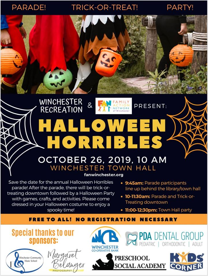 2020 Halloween Parade In Winchester,Ma Celebrate Halloween in Winchester and Woburn This Weekend!