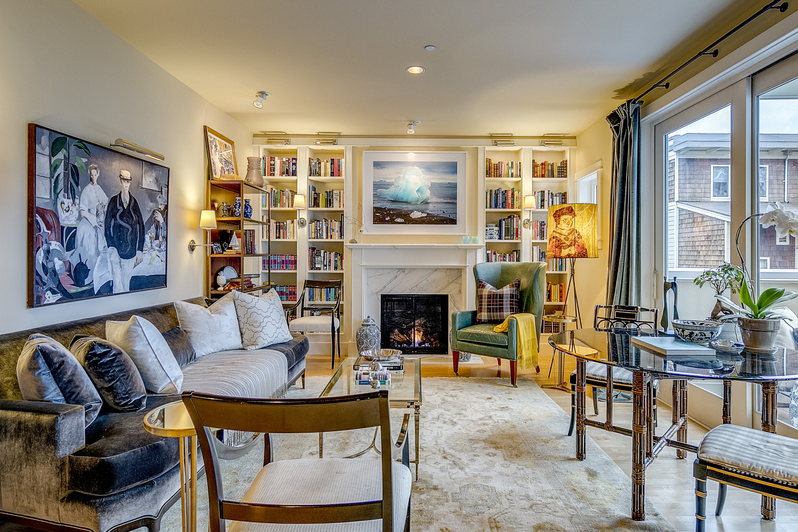 Sitting Room in a Home in Bainbridge Island WA