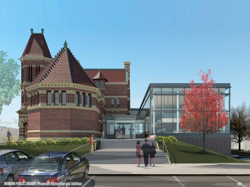 Woburn Public Library mock up