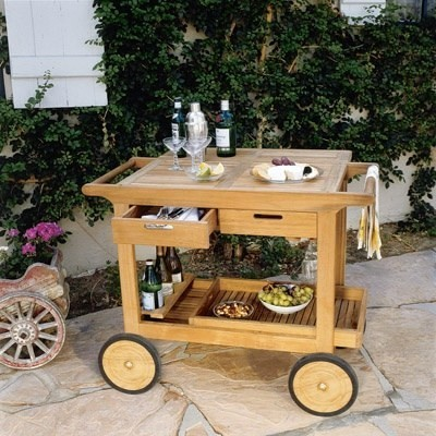 Teak Bar Cart by Kingsley Bate