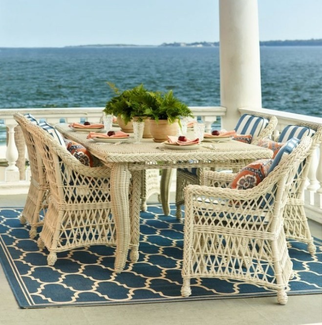 Outdoor Wicker Dining Set by Frontgate