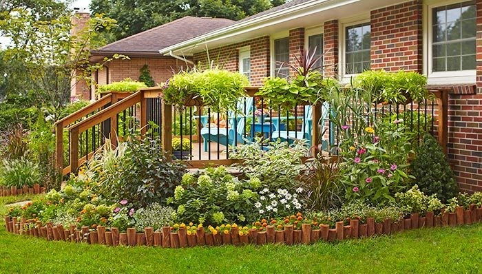 landscaped border between your deck or patio