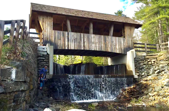 Chester, NH is home to the Wason Pond Covered Bridge