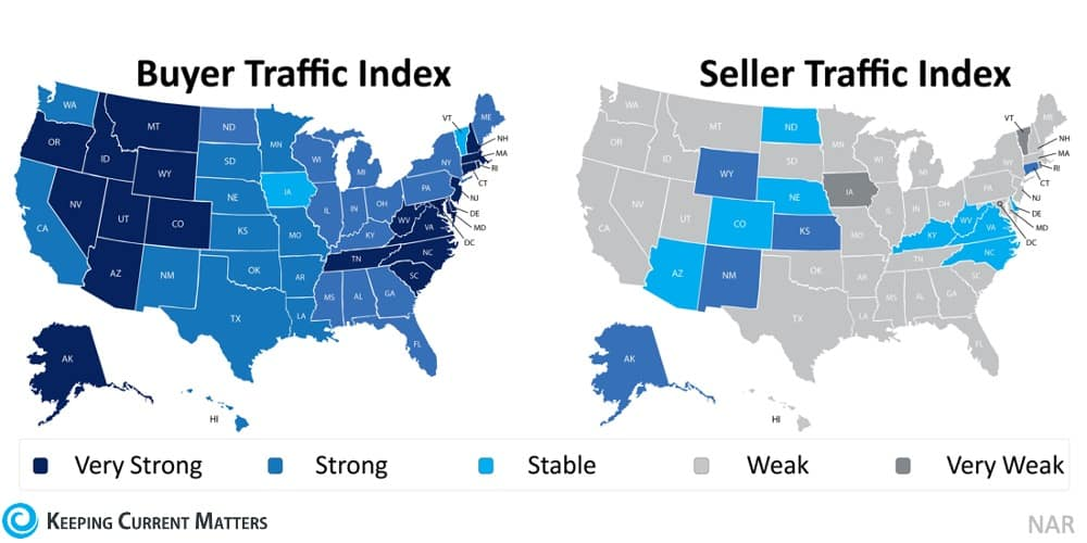 Buyer & Seller Traffic Index Maps