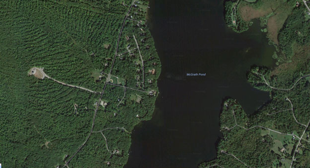 McGrath Pond Maine aerial view