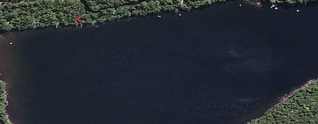 Watson Pond Maine aerial view
