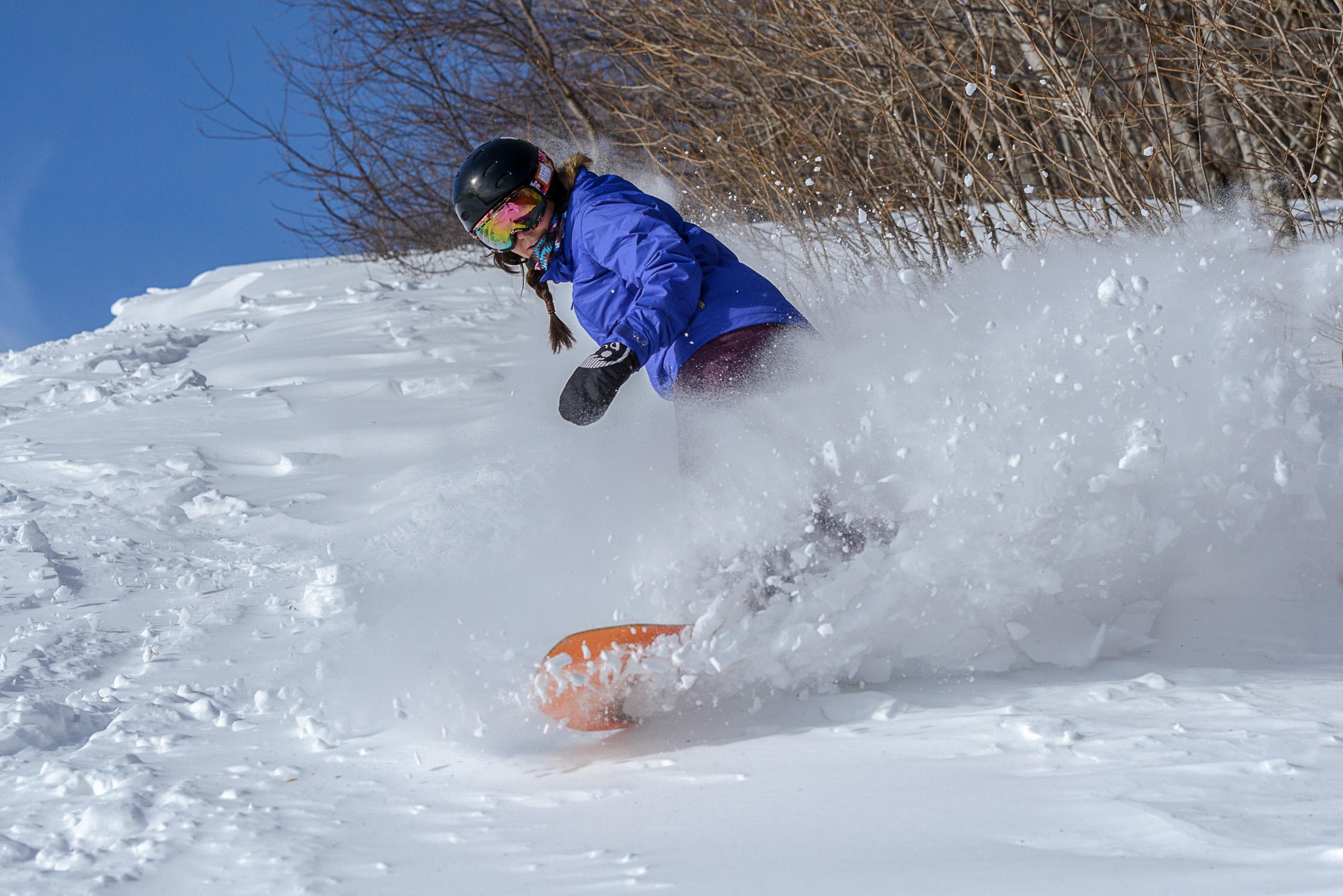Snowboarding in VT