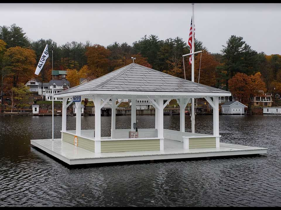 the floating bandstand