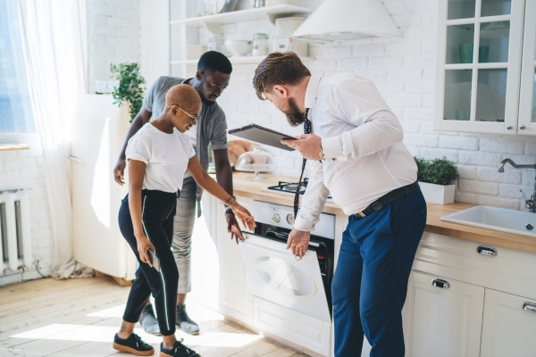 Buyers Walking Through Home