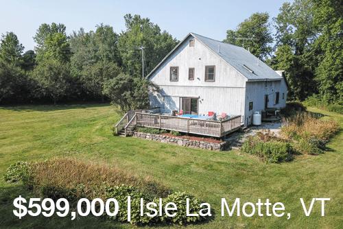Lakefront Barn Conversion on Lake Champlain in Isle La Motte, Vermont