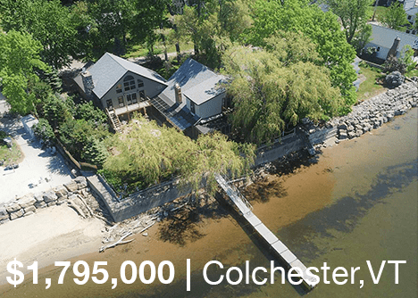 Lakefront Colchester Home For Sale