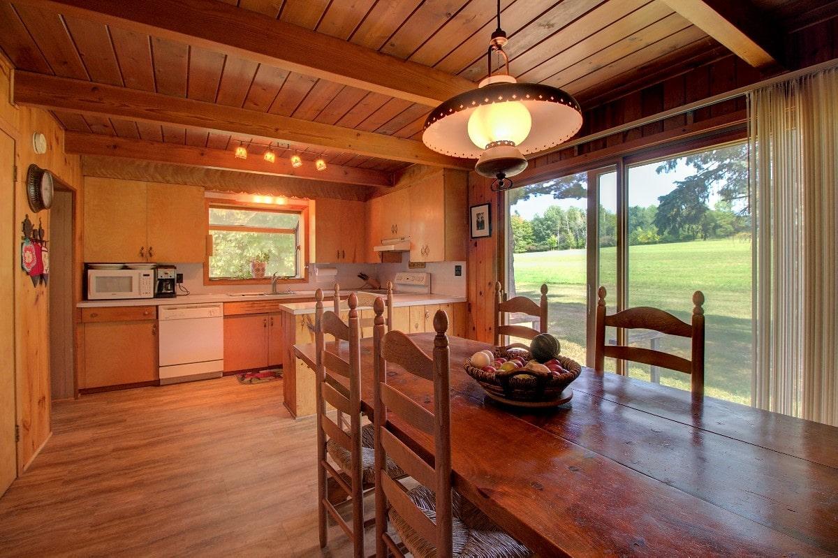 kitchen with warm lighting