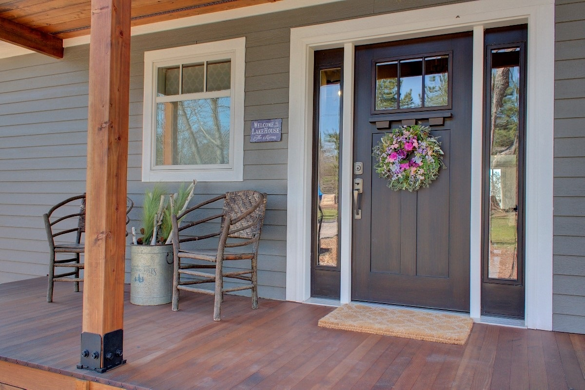 Front Door with Wreath Curb Appeal Inspiration