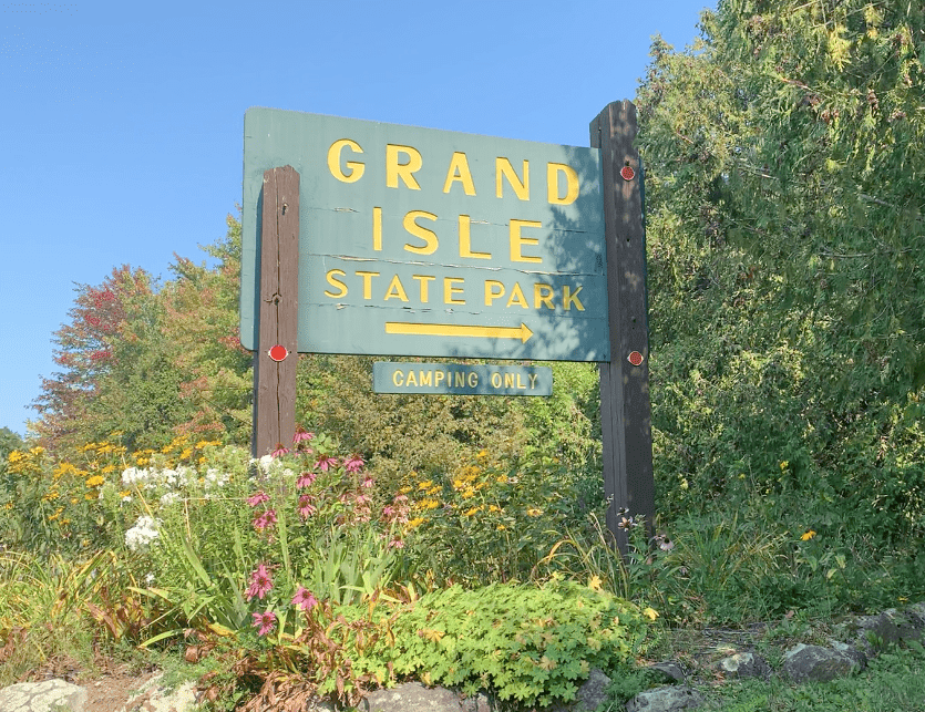 Grand Isle State Park Vermont Sign