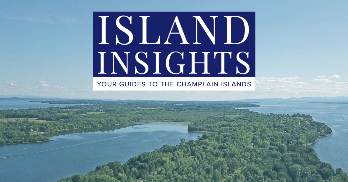Island Insights Graphic with Lake Champlain