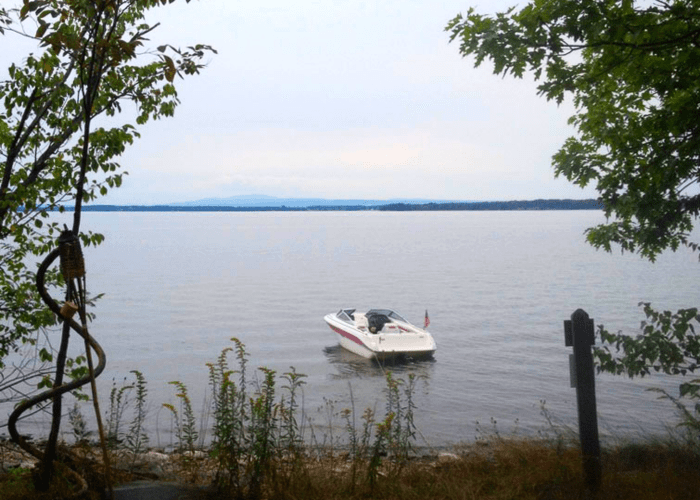 Boat at Woods Island State Park in Vermont