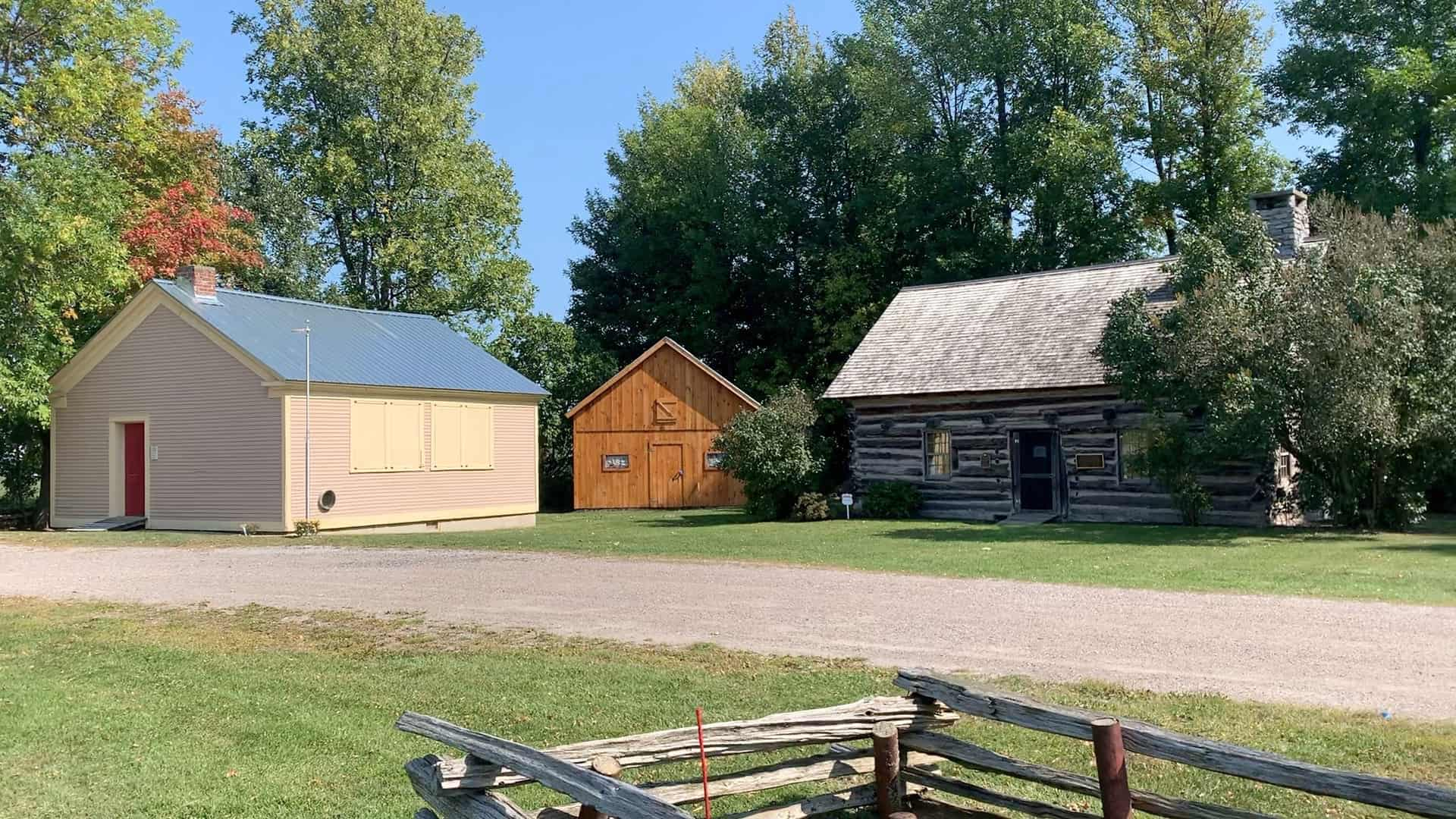 Hyde Log Cabin and Schoolhouse in Grand Isle, Vermont