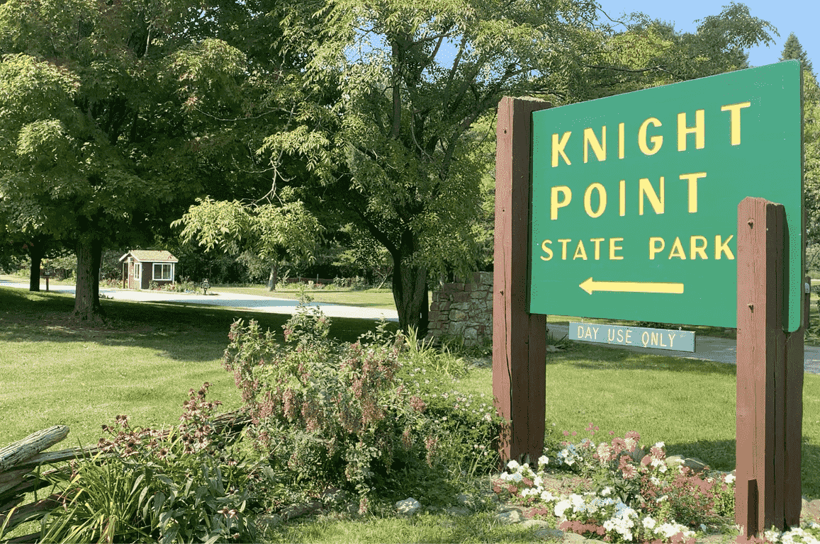 Knight Point State Park Vermont Sign