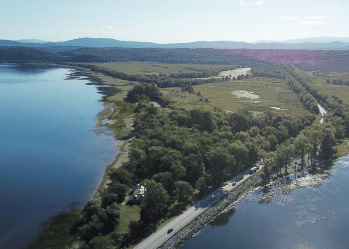 Aerial View of Sandbar State Park Vermont