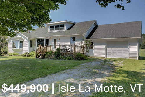 Vermont Lakefront Colonial for sale in Alburgh