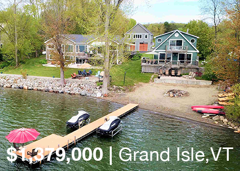 Vermont Waterfront Family Compound on Lake Champlain For Sale