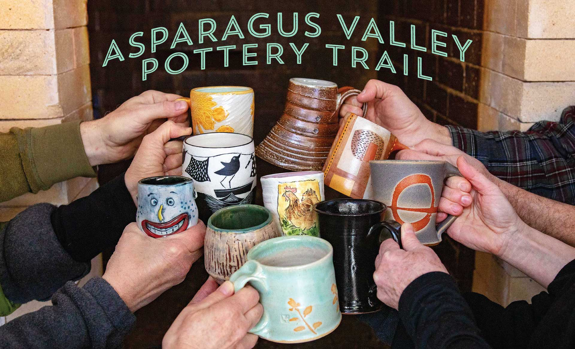 Asparagus valley pottery trail western Massachusetts