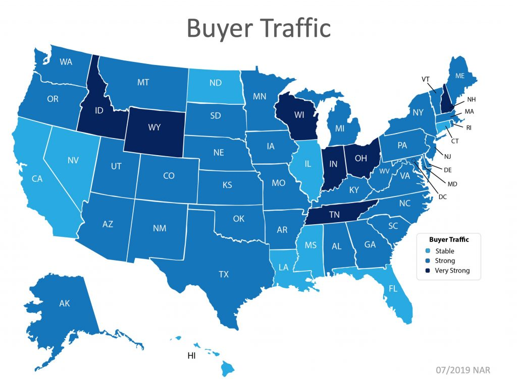 Buyer Traffic by State Graphic