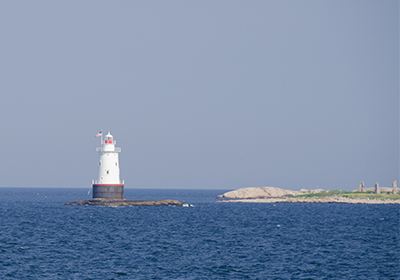 Lighthouse in Little Compton, Rhode Island