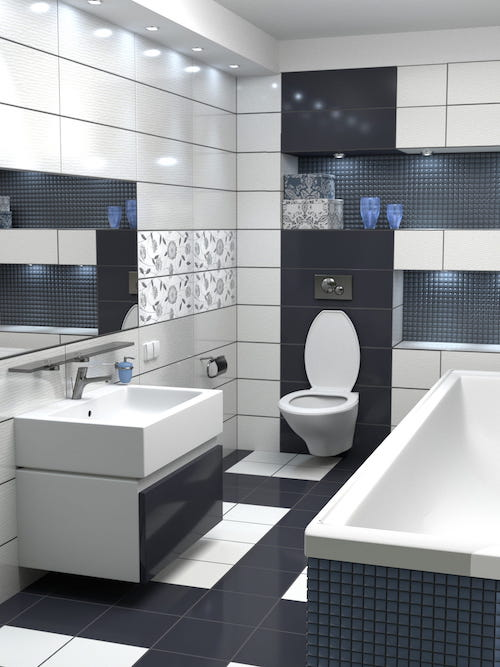 Large Tiles in Bathrooms