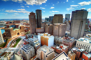 Picture of Downtown Boston from above
