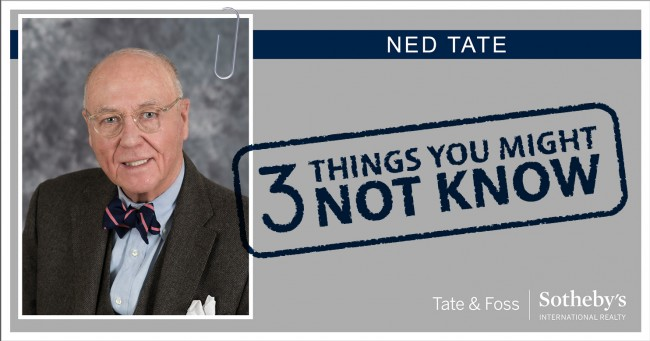 Ned Tate - 3 Things You Might Not Know