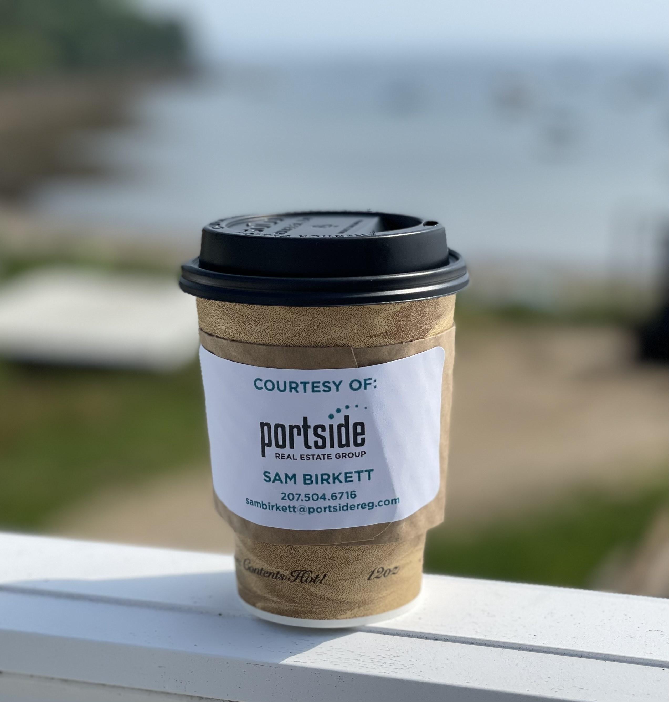 Coffee on ledge