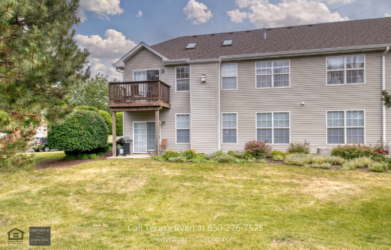 Homes for Sale Naperville Illinois - Enjoy a peaceful view of the neighborhood on the balcony of this Naperville Illinois home for sale.