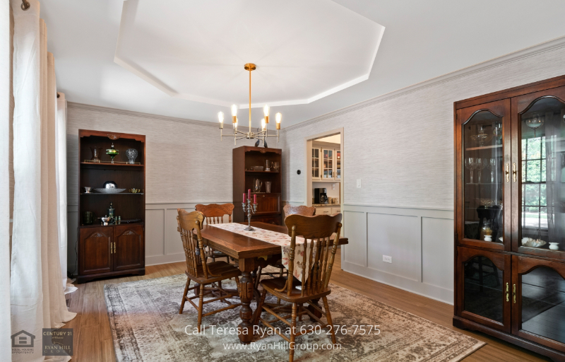 Homes for Sale in Naperville IL - Delicious meals are best enjoyed in the dining room of this Naperville IL home for sale.