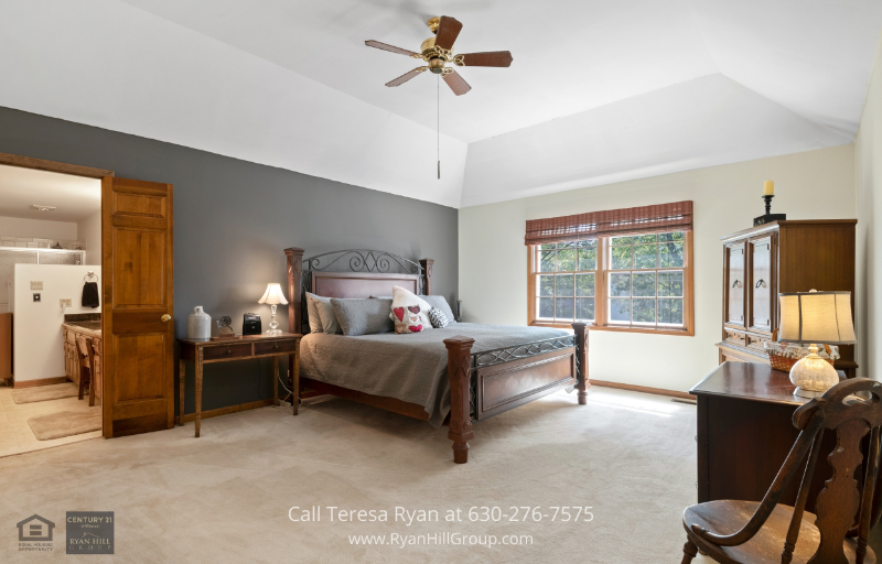 Home in Naperville IL - Restful nights are a guarantee in the master bedroom of this home in Naperville IL.