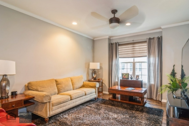 Townhouses for sale in Naperville, IL - This Naperville, IL townhome is designed for comfort and elegance in its spacious living room