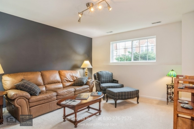 Naperville, IL real estate for sale - Relax in the family room located in the full-lookout basement of this Naperville, IL real estate
