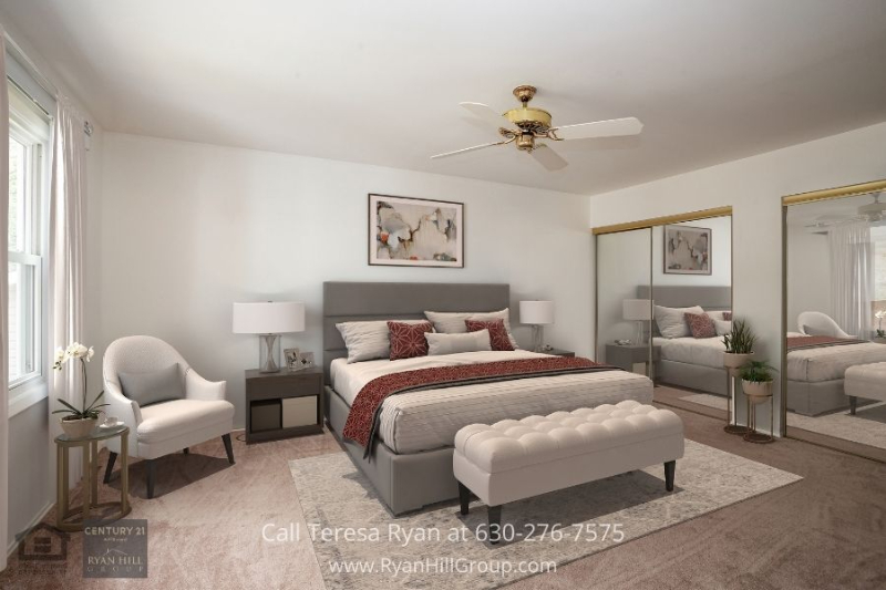 Home in Bloomingdale IL- Enjoy peaceful nights in the master bedroom of this Bloomingdale IL home.