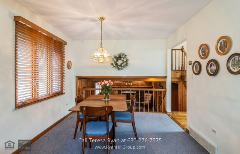 La Grange IL home for sale - The kitchen that opens to a deck and garden in this La Grange IL home is the perfect place for entertaining.