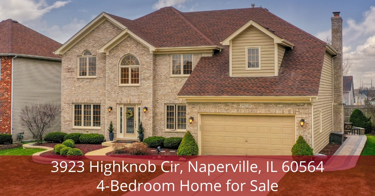 Naperville IL home- Convenience, elegance, and sophistication unite in this Naperville IL home for sale.