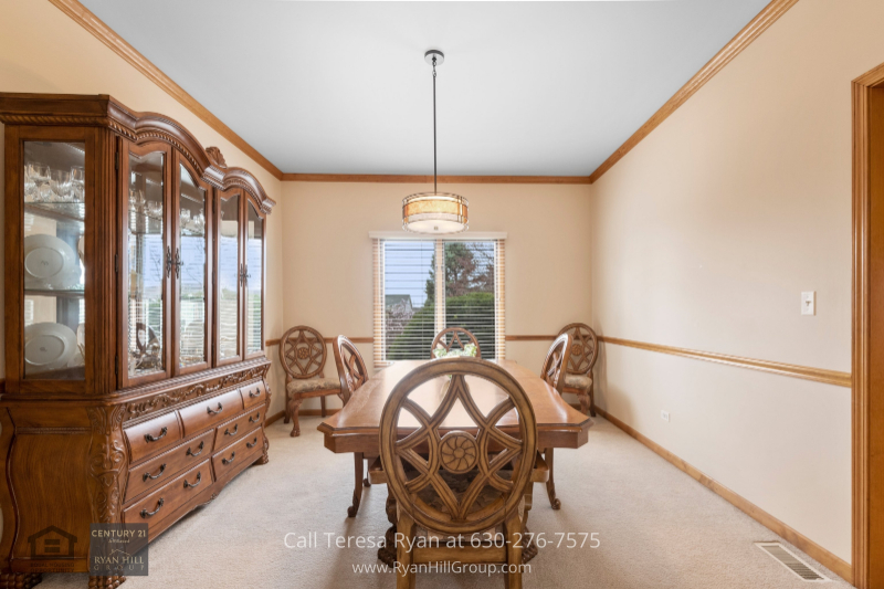 Naperville IL home for sale- This dining room is the perfect spot to create happy memories of wonderful dinners and great conversations.