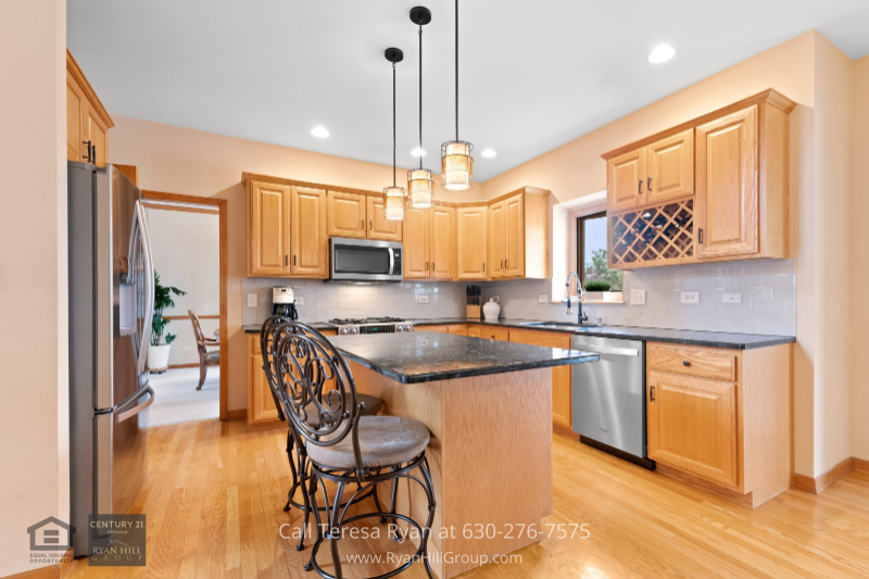 Naperville IL home- The kitchen of this Naperville IL home combines elegance and functionality.
